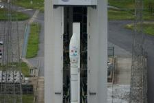 Vega satellite launcher is ready for lift off in Kourou, French Guiana