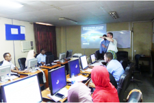 Training the use of space technologies for disaster risk reduction.