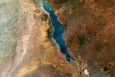 Lake Malawi in the Eastern Rift of the Great Rift Valley seen from space