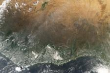 West Africa seen from space by NASA's Aqua satellite