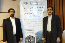UN-SPIDER RSO coordinators from Iran and Pakistan at the closing ceremony.