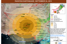 Epicenter of the 7.7 Richter scale earthquake that struck Pakistan in September