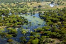 Flood-affected village in Upper Nile State, Southern Sudan, in 2007.