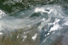Western Russia seen from Space by NASA's Terra satellite on August 2, 2010