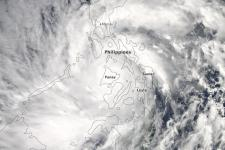 Super Typhoon Haiyan over the Philippines on 8 November 2013