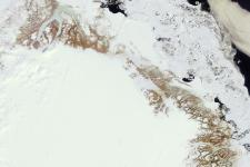 Greenland's ice sheet captured by a satellite