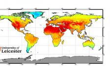 Global monthly land surface temperature from Envisat's AATSR for July 2006.