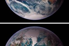 The Earth caught by NASA's satellites Terra and Aqua