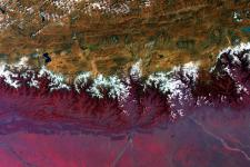 Himalayan Mountains seen from Space by ESA's Envisat.