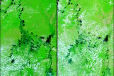 MODIS image caught by NASA's Terra satellite shows floods in Colombia