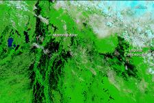 Floods in Bolivia seen from Space