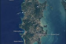 satellite image of the island of Phuket before the tsunami hit