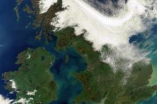 Satellite image of UK and Ireland