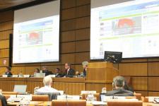 Presenting the UN-SPIDER Knowledge Portal to participants