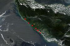 Satellite images help detect fires in Indonesia