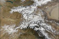 Satellite image of the Himalayan region