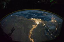 River Nile and its Delta hosting two of the biggest cities in Egypt