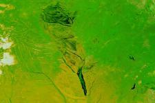 Floods in Zambia in 2003 captured by NASA's Terra satellite