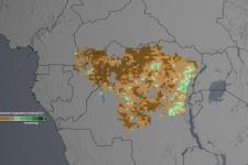 """The studies analyzed the """"greenness"""" of the Congo rainforest"""