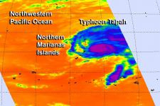satellites track tropical storm in the Pacific