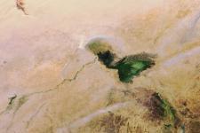 Satellite image shows Lake Chad