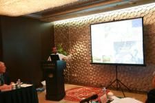 UN-SPIDER's Shirish Ravan during his presentation
