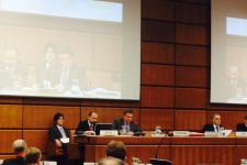 Mr Luc St-Pierre presented the UN-SPIDER programme's recent activities to COPUOS