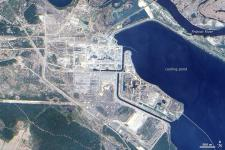 Chernobyl seen from Space in 2009