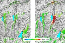 Satellite data reveals small geological movements