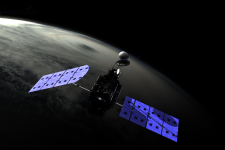 Artist's depiction of NASA's Global Precipitation Measurement mission