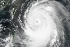 Super typhoon Neoguri seen from space.