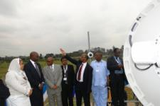 Representatives of RCMRD during the launch of the MODIS receiving station