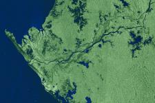 Gabon captured by ESA's Envisat radar sensor in 2005