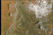 MODIS instrument showing unusually extreme floods in Khartoum in 2007