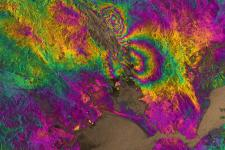 Napa Valley earthquake captured in an interferogram.