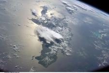 Satellite image of Haiti and the Greater Antilles