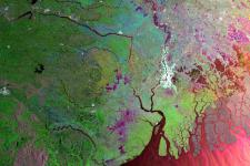 Satellite image of India acquired by Envisat's ASAR, 2005