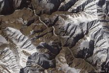 The Operational Land Imager (OLI) on Landsat 8 detected the landslide debris in Northern India on 18 January 2015