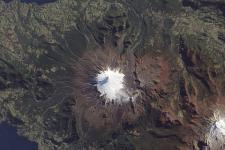 Satellite image of Volcan Villarrica (Image: NASA)