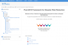 The e-tutorial is designed for delegates and experts participating in the preparatory process of the Third UN World Conference on Disaster Risk Reduction