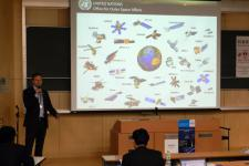 UNOOSA's director and two UN-SPIDER experts gave presentations during the CANEUS public forum
