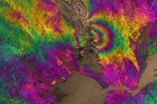 Satellite radar image of the magnitude 6.0 South Napa earthquake (Image: ESA)