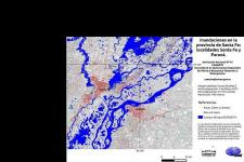 5 March satellite image of floods in province of Santa Fe (Image: CONAE)