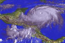 Hurricane Mitch approaching Honduras in 1998 (Image: NASA)