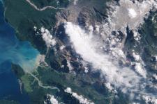 Southern Chile has been several times affected by volcano eruptions. 2009 Chaitén Volcano (Image: NASA)