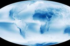 Decades of satellite images show: Earth is a cloudy place (Image: NASA)
