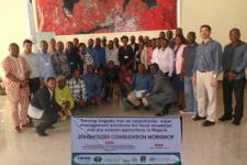 Approximately 30 experts participated in the workshop and training (Image: IWMI)