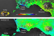 Comparing surface deformation data through Envisat and Sentinel-1A data over Bay of Naples in Italy (Image: ESA)
