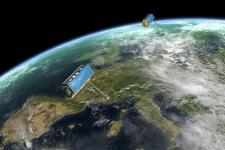 SAR satellites observing the Earth (Image: DLR)