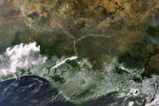 The Niger delta (Image:ESA)